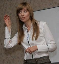 Юлия, выступление перед группой