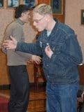 Михаил Герасименко. На тренинге по ораторскому искусству.