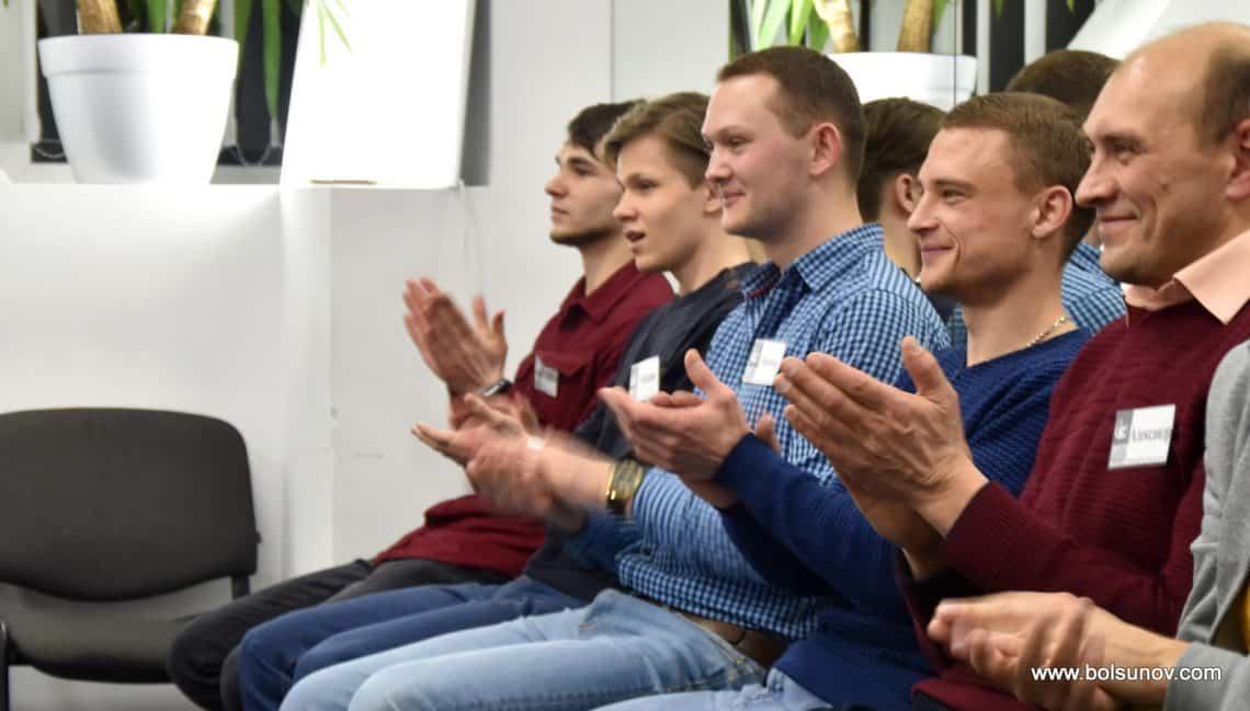 Аплодисменты ораторам. Школа ораторского мастерства Болсунова Олега.